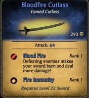 Bloodfire Cutlass