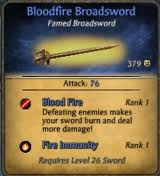 Bloodfire Broadsword