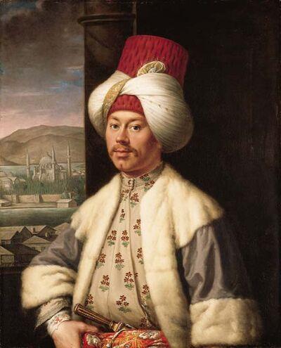 Portrait of a gentleman, half-length, in Ottoman dress favray c 1760s