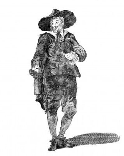 9488498-costume-of-an-oliverian-a-supporter-of-oliver-cromwell-in-1650-on-engraving-from-the-1700s