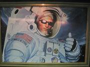 Duke Nukem astronaut Painting