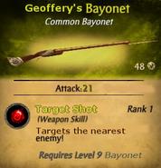 Geoffrey's Bayonet