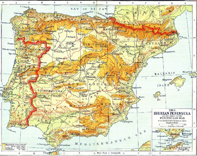 Mini map of spain
