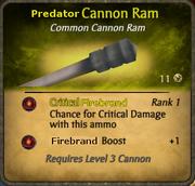 Predator Cannon Ram