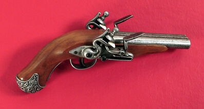 G8716 Double Barrel Flintlock Pistol