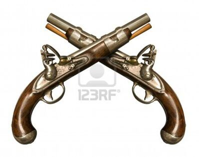 13096348-two-crossed-flintlock-pistols-against-white-background-flintlock-pistols-manufactured-by-gunmaker-si