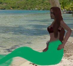 Ana on beach