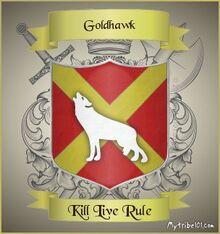 Goldhawk family crest