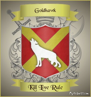 Goldhawk family crest
