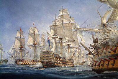 HMS Conqueror in Battle