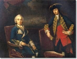Attributed-to-george-knapton-double-portrait-of-naval-officers