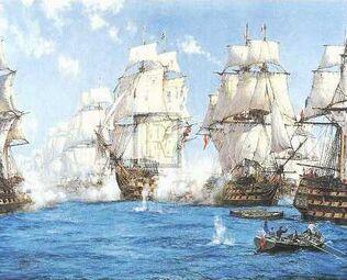 The battle of trafalgar montague dawson