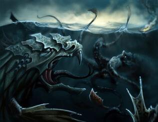 Kraken vs Leviathan by ThranTantra