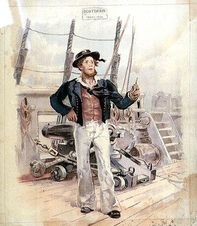 Royal Navy Boatswain 1820