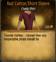 Red cotton short sleeve