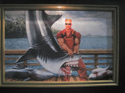 Duke Nukem Shark Wrangler painting