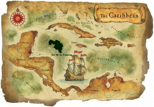 Isla de la Caribbean map