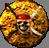 Shipskulls medallionbutton on