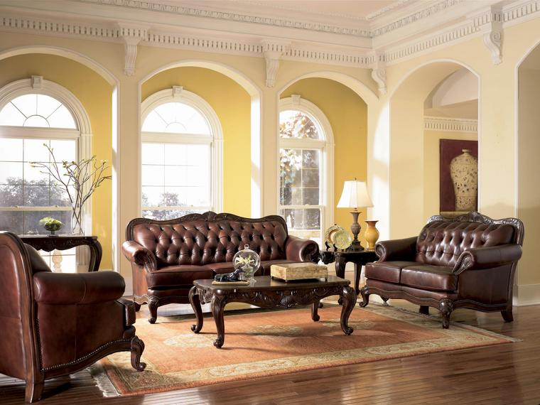 European Tuscan Decor Furniture Living Room