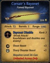 Corsair's Bayonet