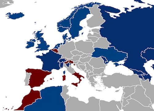 1739 - Paradoxian War Map