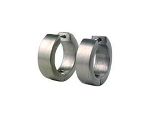 He86 brushed stainless steel hoop earrings 1