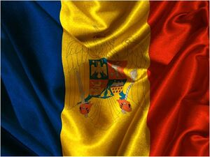 Romania Flag Rippled