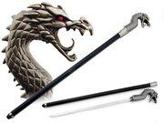Dragon sword walking stick thingy