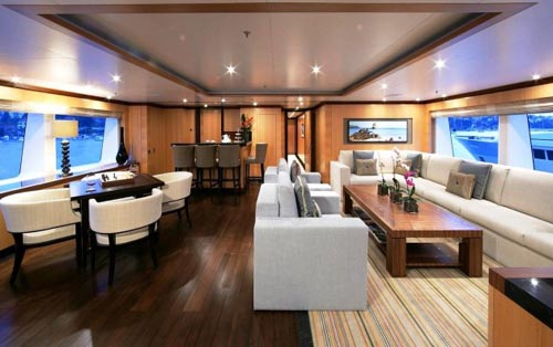 4 Contemporary Yacht Interior Design Of Amnesia Motor Yacht1