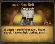 Silver box belt