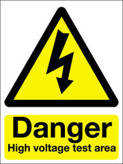 High Testing Sign with Voltage