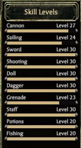 Skill Levels - Jack Firebones