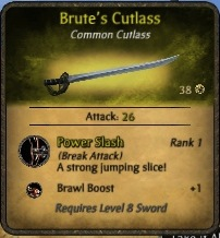 Brutes-cutlass