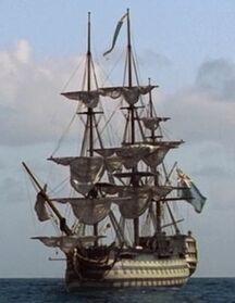 HMS Conqueror off coast