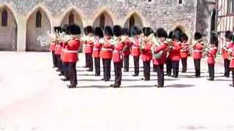 Guards playing Pirates of the Caribbean theme Song