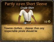 Partly open short sleeve