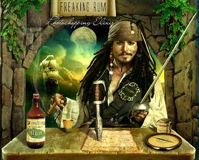 Jack drinks rum from ziggy's