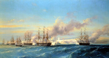 The attack of Mogador by the French fleet Serkis Diranian-1-