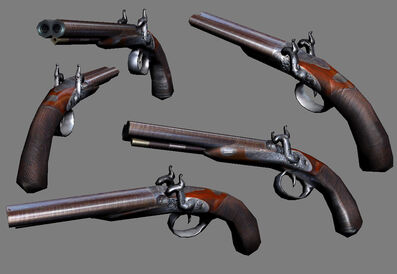 3d Flintlock Pistol by Athey