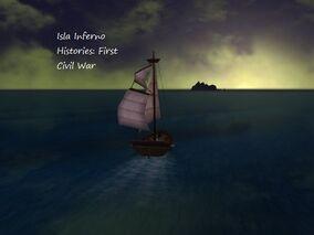 Isla Inferno First Civil War Book Cover