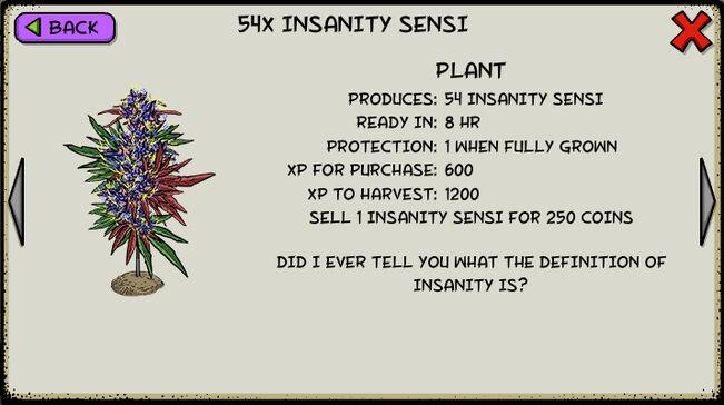 Insanity sensi