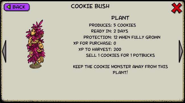 Cookie bush