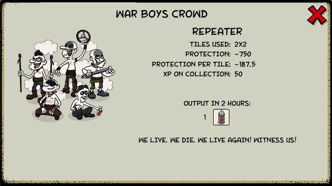 War boys crowd