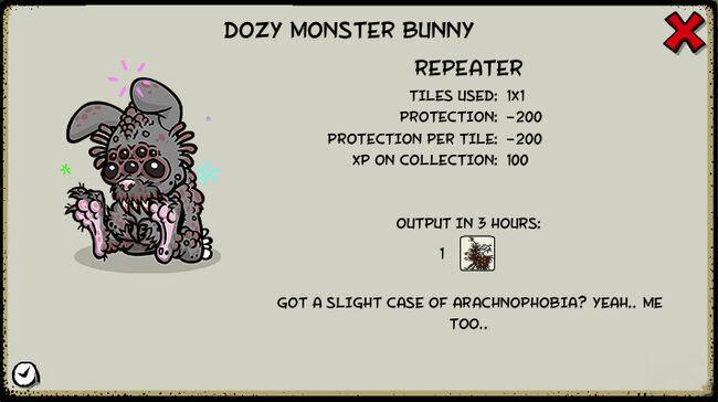 Dozy monster bunny
