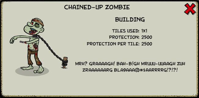 Chained-up zombie