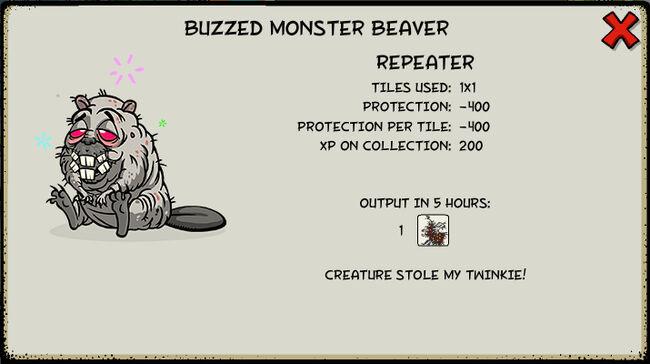 Buzzed monster beaver