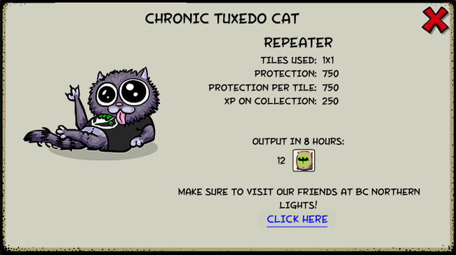 Chronic tuxedo cat