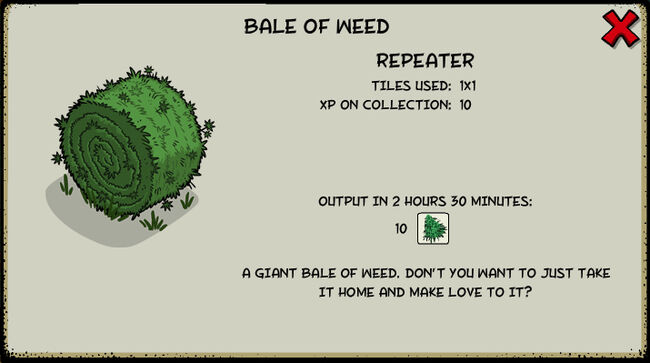 Bale of weed