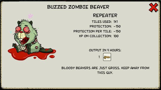 Buzzed zombie beaver