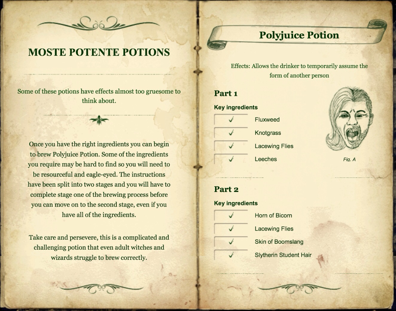 photograph relating to Harry Potter Potion Book Printable known as Moste Potente Potions Pottermore Wiki FANDOM driven via